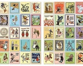 Wizard of Oz Stickers, Postage Stamp Stickers  - Set of 80