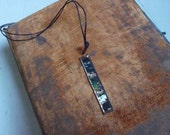 Handmade Necklace with Copper-framed Original Photograph of Forest