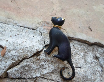 Black Cat Vintage Brooch