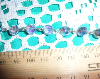Authentic Vintage Beautiful Blue Glass Crystal with Blue Crystal Drop Bracelet, Perfect For BRIDE, BRIDESMAID, WEDDING