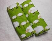 Locally Grown, Sheep Green Infant/Toddler Reversible Car Seat Strap