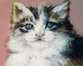 RESERVED,I will paint a portrait of your pet , cat,  Painting in Acrylic on board