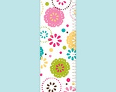 Personalized Modern Flowers Growth Chart - Sprinkled Flowers