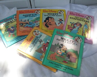 Vintage Walt Disney Bantam Book Story Books Set