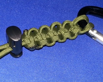 Water Bottle Carrier - O.D. ParaCord with a Carabiner