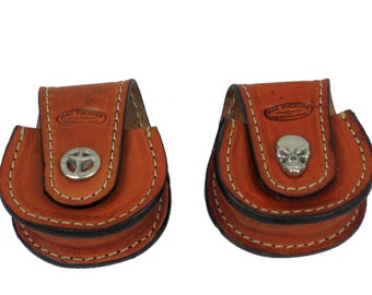 Leather Tobacco Can Case Holder CI0161