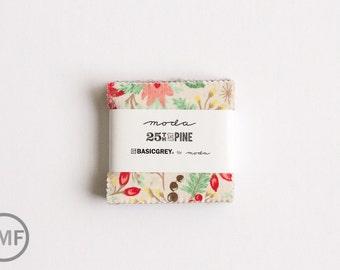 25th and Pine Candy Pack, Mini Charm Pack, BasicGrey, Moda Fabrics, Pre-Cut Fabric Squares, 30360MC