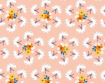 Lotus Pond Fluttering Fields, Rae Hoekstra, 100% GOTS-Certified Organic Cotton, Cloud9 Fabrics