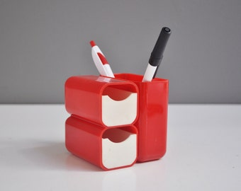 Vintage Mod Pencil Holder and Desk Organizer