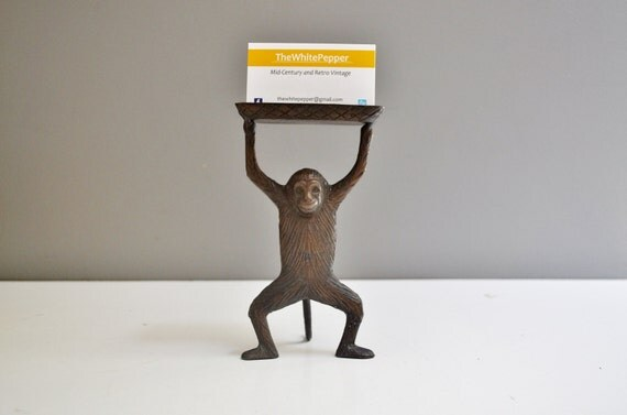 Brass Monkey Business Card Holder