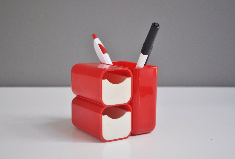 Vintage Mod Pencil Holder And Desk Organizer