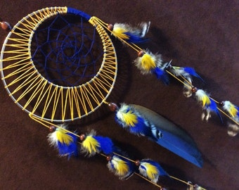 Dream Catcher-Moon Motions Signature Silver Ringed Dream Catcher- STORY TIME MOON- Made to Order