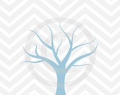 baby boy shower 8x10 fingerprint chevron gray blue thumbprint guestbook tree printable diy JPEG