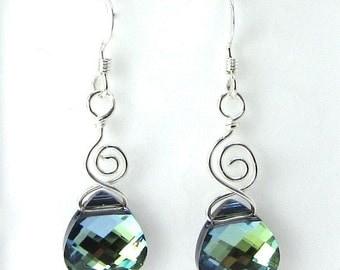 Whimsical Crystal Citrine Swarovski Briolette Earrings