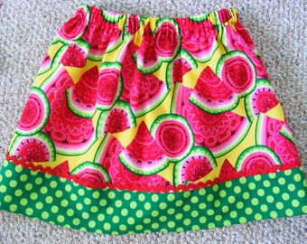 Yummy Watermelon Skirt   (12 mos, 18 mos, 24 mos,   2T, 3T, 4T, 5, 6, 7)