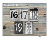 PHOTO NUMBERS and DATES 16-20, 4x6 photo number,print only, photo letter art