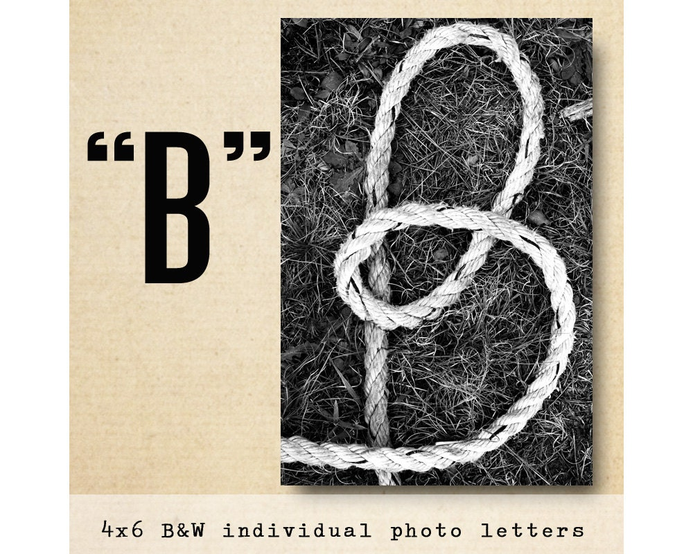 letter b alphabet photography black and white 4x6 photo letter