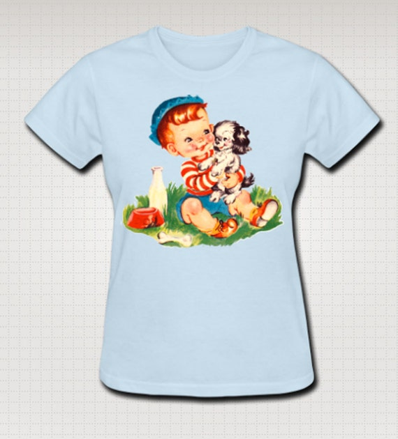 Puppy and Boy T-Shirt