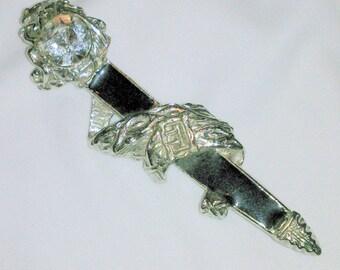 Vintage Enamel and Rhinestone Sword Brooch