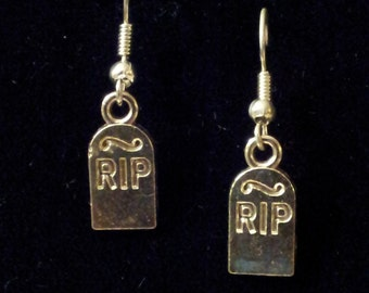 Gravestone Earrings