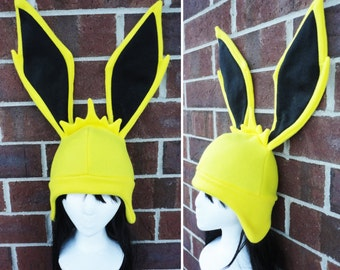 Jolteon Pokemon Hat - Fleece Hat Adult, Teen, Kid - A winter, nerdy, geekery gift!