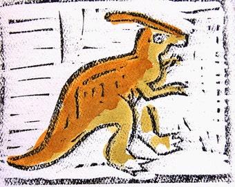 Duckbill dinosaur card