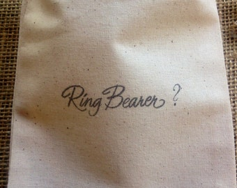 Will you be my Ring Bearer ? Gift 1 Black 5x6 Muslin Bags Bridal Party Question Jewelry Make up Purple Blue Green