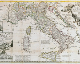 Vintage Map - Italy 1714