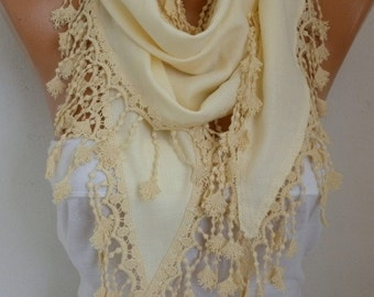 OOAK SCARF, Yellow Pashmina Scarf, Wedding Shawl,Bridal Scarf, Cowl Scarf Bridesmaid Gift For Her Women's Fashion Accessories,women scarves
