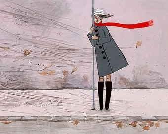 Autumn Wind. Fine Art Illustration