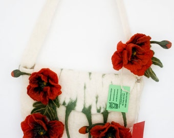 Sale! Felted bag from a wool Poppy and a gift!