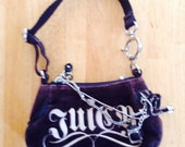 Juicy Coutiure Handbag brown small bling velvet