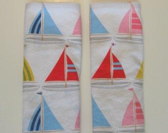 Sailboats Car Seat Strap Covers