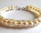 Bridal Fresh Water Pearl Bracelet - Custom Orders Welcome