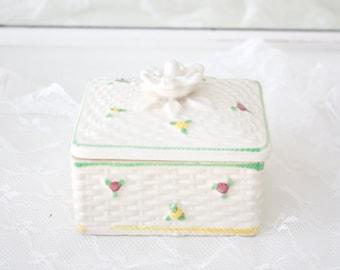 Vintage Trinket Box Jewelry Box