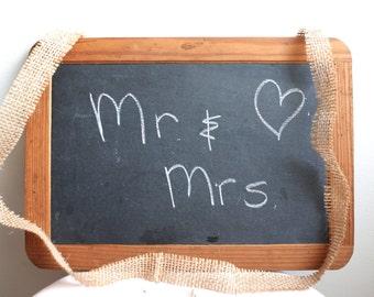 Vintage Chalkboard Wedding Decor Mr. and Mrs.