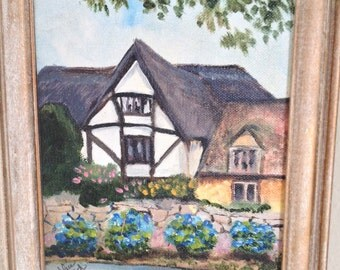 Original Framed Painting- Brodway Cottage
