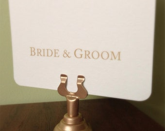 Classic GOLD Stainless Steel Table Card Holders