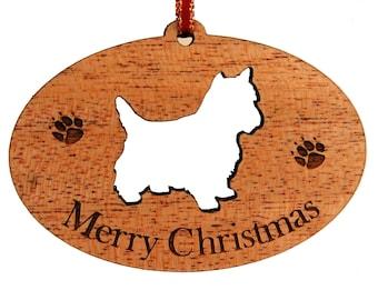 Yorkie, Yorkie Ornament, Wood Yorkie Ornament, Wooden Dog Ornament