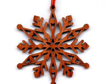 Snowflake Ornament, Christmas Ornament, Wood Ornament, Christmas Gift