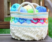 CROCHET PATTERN - Have a Heart Tote - a crochet heart tote pattern, crochet bag pattern, linked hearts purse pattern - Instant PDF Download