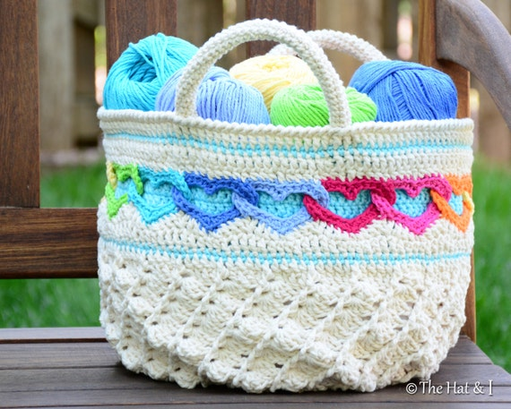 Bag Crochet Pattern Free Download : ... crochet heart tote pattern, crochet bag pattern, linked hearts purse