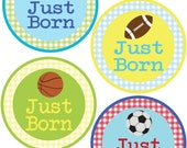 ADD ON Just Born Stickers for Baby, Just Born Stickers  - Sports - Just Born Stickers -Baby Shower Gift - Baby