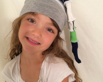 Kids Seahawks cap hat upcycled 12th man by HopeFloats
