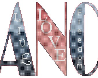 Modern Dance Cross Stitch Pattern Dance Breath Live Love Freedom Power Modern Cross Stitch
