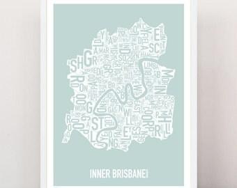 BRISBANE - Suburban Type Print