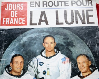 Rare French Magazine Jours de France Moon Landing 1969
