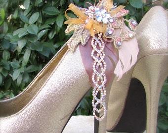 Bridal Shoe Clips Sparkle Elegance