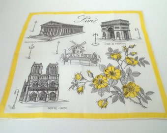 Vintage Paris Handkerchief