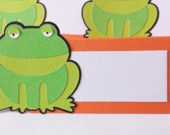 Frog Prince Food Tags Place Holder Set of 12 By Your Little Cupcake
